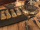 verre de vin blanc avec tapas en apéro